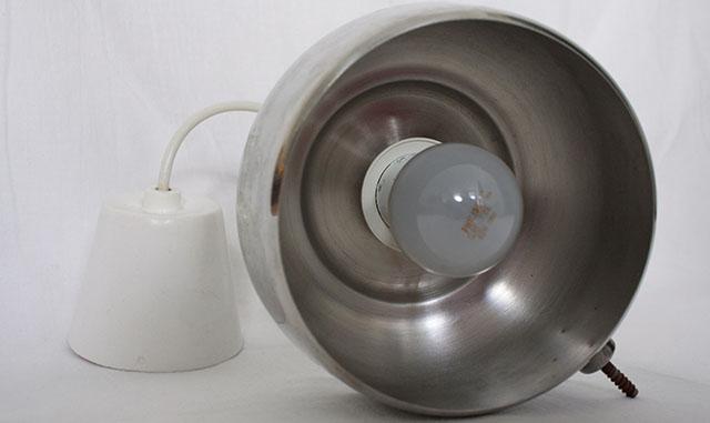 Lampe aus Fonduetopf