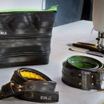 Tascherl und Gürtel aus Radschlauch